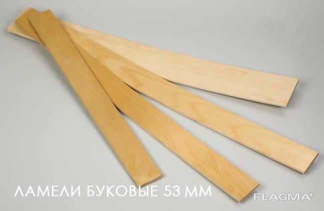 Букови ламели 53*8 директно от производителя (ua)