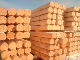 Cylindered logs for wooden houses (rounded logs)