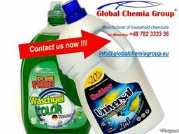 Pure fresh washing gel. Washing powder for washing