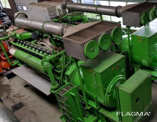 Б/У газовый двигатель Jenbacher 616 GSС87, 2000 Квт, 1997 г.