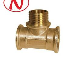 Brass Tee Fitting 1/2F-1/2M-1/2F / HS