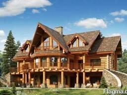 Деревянные дома - оцилиндровка, дикий сруб.