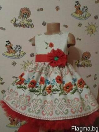 Платья детские и взрослые в украинском стиле, хлопок